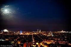 Barcelona night (hunter of moments) Tags: barcelona light sea sky luz skyline night landscape mar nikon paisaje cielo nocturna d5000
