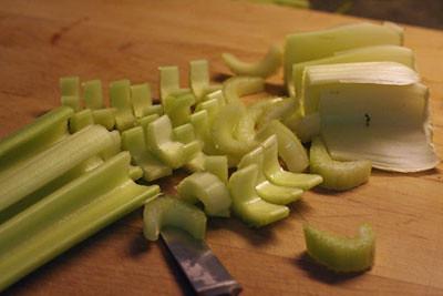Chopping Celery