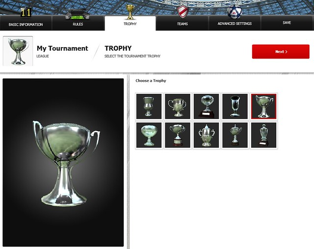 FIFA 12 Creation Centre: Choose a Trophy