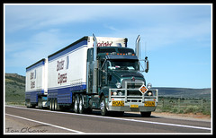 G&V Vithoulkas (Tom O'Connor.) Tags: road west port train truck canon lens eos highway south under twin australia down double perth western land augusta trucks kit straight bound 90 mile trucking nullarbor truckers kenworth eyre gv 2011 vithoulkas t604 1000d