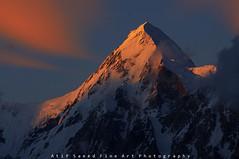 Momhil Sar 7343M (M Atif Saeed) Tags: pakistan sunset mountain mountains nature landscape peak rush karakoram hunza gilgit 7000 rushlake 7000m impressedbeauty hisper atifsaeed momhil