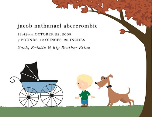 Jacob's birth announcement