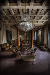 Grand lobby of the overlook abandoned hotel (andre govia.) Tags: building abandoned buildings table hotel tirol closed chairs decay ghost grand down best andre spooky lobby explore left overlook derelict shining urbex hounted govia