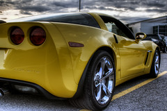 vroooom (Mike Foote) Tags: auto cars chevrolet car wheel yellow clouds photoshop automobile ottawa capital highcontrast chevy corvette hdr highdynamicrange carshow chev chorme worldcars