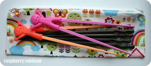 Chop sticks zippered pouch.