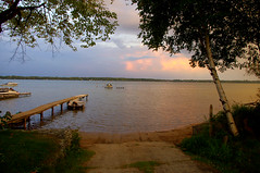 The Lake at sunrise Toronto (shinytreats) Tags: toronto canada nature water reflections landscape boats lakes