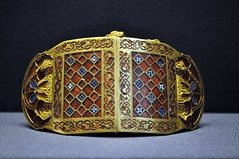 Shoulder Clasp (micronova) Tags: medieval britishmuseum anglosaxon suttonhoo