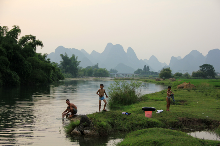 Biking in Yangshuo, China
