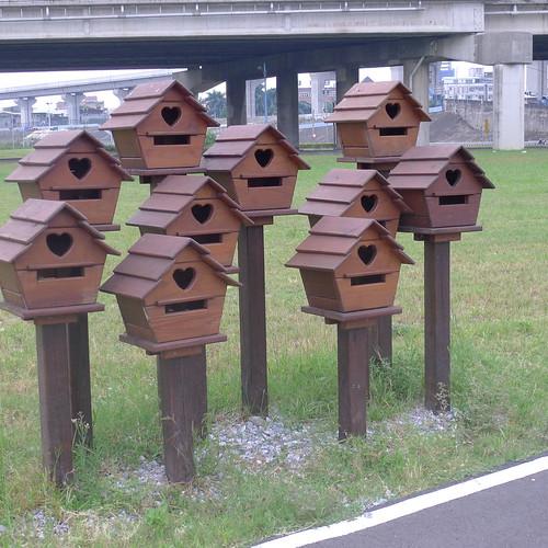 二重疏洪道--木製鳥窩