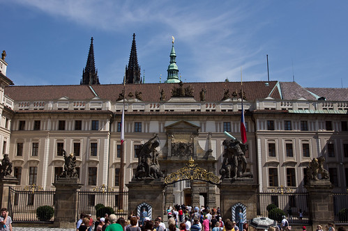 Prague Castle gate entrance
