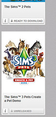 The Sims 3 Pets Create a Pet Demo Origin Unreleased