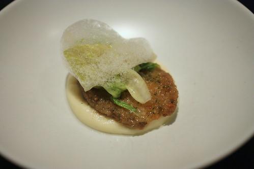 Abalone, Potato, Caper, Lettuce