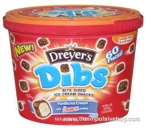 Dreyer S Vanilla With Nestle Crunch Coating Dibs The