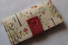 Folklore Woodland Forest Checkbook Cover by Seaside Threads