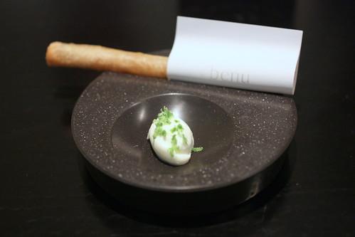 Eel,Feuille de Brick, Creme Fraiche, Lime
