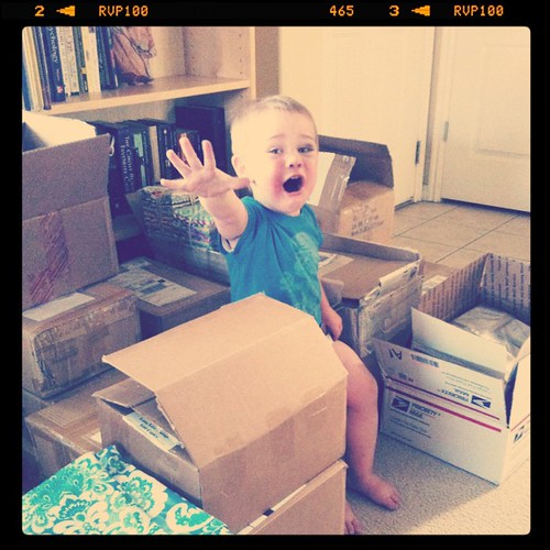 Grahm says: no more @sewingsummit boxes in my living room! ;]