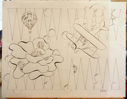 B drawing