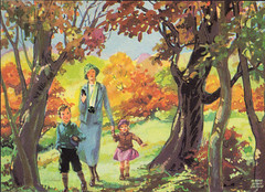 Learning about autumn colors illustrated by Miriam Story Hurford (katinthecupboard) Tags: reader vintagechildrensbooks childrens vintage vintagechildrensillustrations miriamstoryhurford illustrations vintagechildrensprimer vintagechildrensreaders hurfordmiriamstory