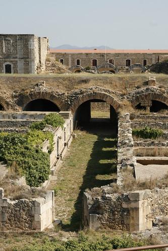 Interior de la fortificación