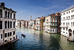 Gondolier on the Grand Canal, Venice (Jon Meyer Photographic Art) Tags: venice italy color reflection tower water facade buildings reflections europe gondola grandcanal waterway gondolier jonmeyer nikond3x jonmeyerphotography jonmeyerphotographicart