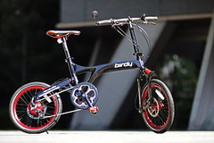 Rohloff Birdy with disc brake (benny ng) Tags: red black bike bicycle japan canon tokyo shinjuku pacific sony taiwan    folding bd1 birdy foldingbike bianchi brompton foldingbicycle dahon rm schwalbe  foldable fretta nex rohloff biologic canonfd discbrakes speedhub alexrims riesemller  marathonracer  litepro sonynex3    rohloffdisc rohloffdiscbrakes