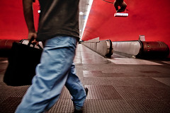 L'homme press (pas le matin) Tags: red man paris station subway rouge mtro perspective hurry subwaystation couloir homme rer metrostation translator stationdemtro inahurry auber mtroparisien parisianmetro hommepress parisiansubway couloirdumetro stationdemtroparisien
