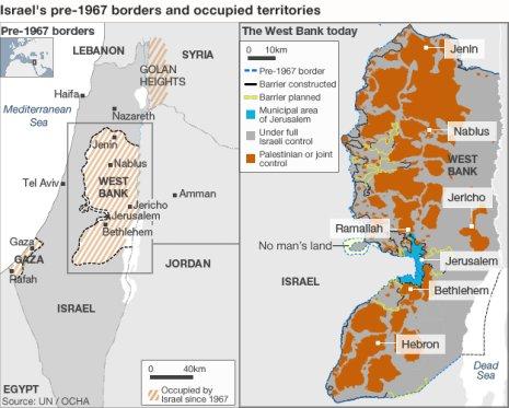 11i24 BBC Israel Palestina 1967 y hoy