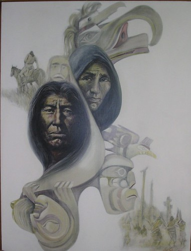 Native Heritage - Painting - Realism