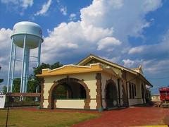 Osage depot under a wonderous sky (jimsawthat) Tags: railroad sky architecture clouds watertower kansas depot smalltown osagecity