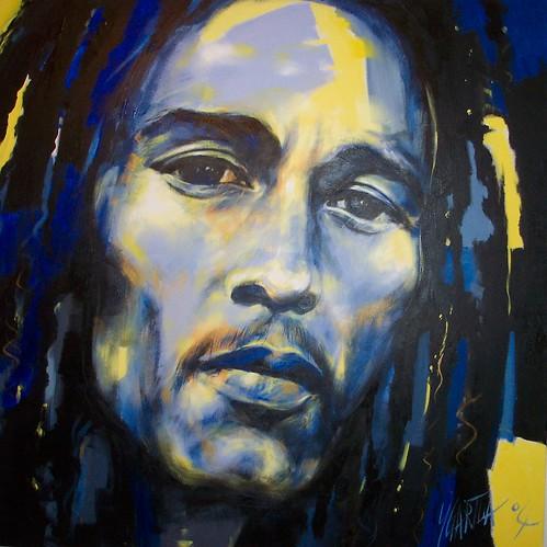 Bob Marley - Painting - Portrait