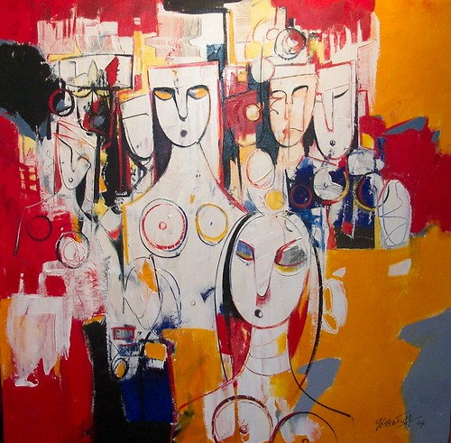 The Gathering - Painting - Modern Expressionism