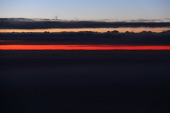 Sunset from a Transatlantic Flight (ChrisGoldNY) Tags: travel sunset sky abstract clouds skies views americanairlines flights magichour transatlantic takenfromplane chrisgoldny chrisgoldberg chrisgold chrisgoldphotos