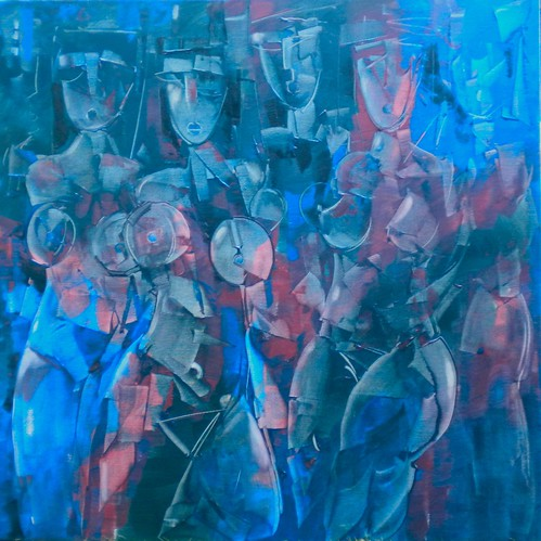 Blue Danube - Painting - Modern Expressionism