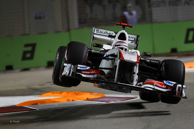 Kamui Kobayashi Sauber C30 2011 F1 Singapore Grand Prix