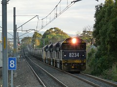 diverted coal 2 (sth475) Tags: railroad autumn train clyde gm diesel railway loco australia grade nsw locomotive coal fc freight pn steep wollongong illawarra emd unanderra 8234 82class dlclass jt42c at42c