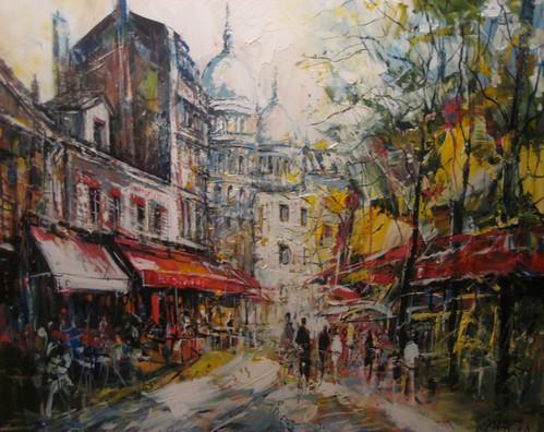 Artist's Corner, Montmartre - Painting - Impressionistic