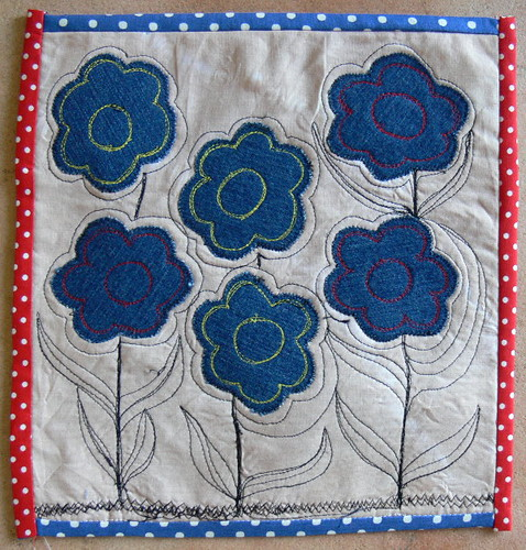 Journal Quilt #09 Flowers