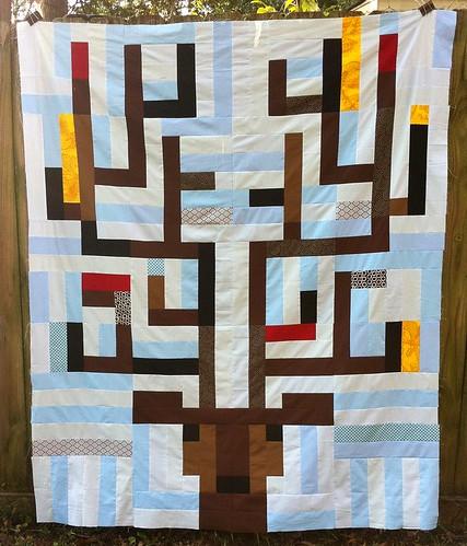 Deer quilt top