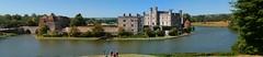 Leeds Castle - side view (jepoirrier) Tags: uk autostitch panorama castle kent view stitch unitedkingdom side leeds moat hugin