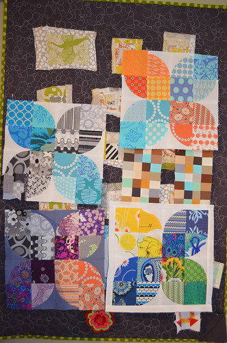 Design wall quilt - bits of blocks - what I did this weekend