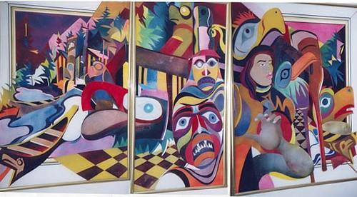 West Coast Mask Dancers - Painting