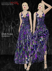 DNR Robin V Poster Violet (designingnickyree) Tags: clothing dresses gowns apparel nickyree slfashion resortfashion dnrrobincollection