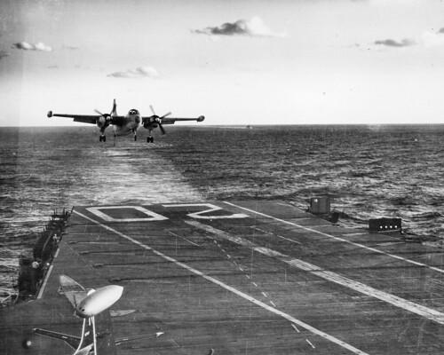 North American AJ-2 Savage landing on USS Bennington