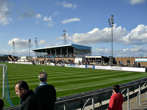 Station Park  Forfar, Stand from North Terracing