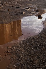 Reflection (Greatest Paka Photography) Tags: arizona reflection nature landscape puddle utah sandstone butte navajo monumentvalley americanindian reservation mirroredimage tribalpark