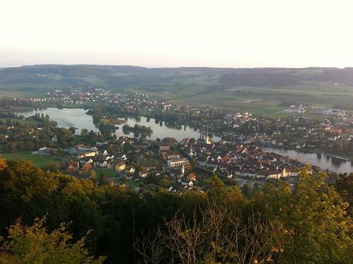 View over Stein am Rhein from Hohenklingen castle