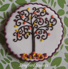 Close-Up of Cookie Swap Cookie (Songbird Sweets) Tags: tree fall sugarcookies songbirdsweets