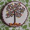 Close-Up of Cookie Swap Cookie (Songbird Sweets) Tags: tree fall sugarcookies songbirdsweets