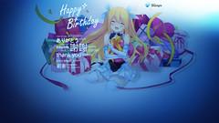 110927(1) - 台灣微軟Silverlight看板娘「藍澤光」歡度一歲生日、特製桌布現正開放下載中! (1/2)