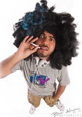 Ain't We Funkin' Now (Bader AL-Huzaimy) Tags: portrait canon hair angle smoke wide tokina mtv 7d funk